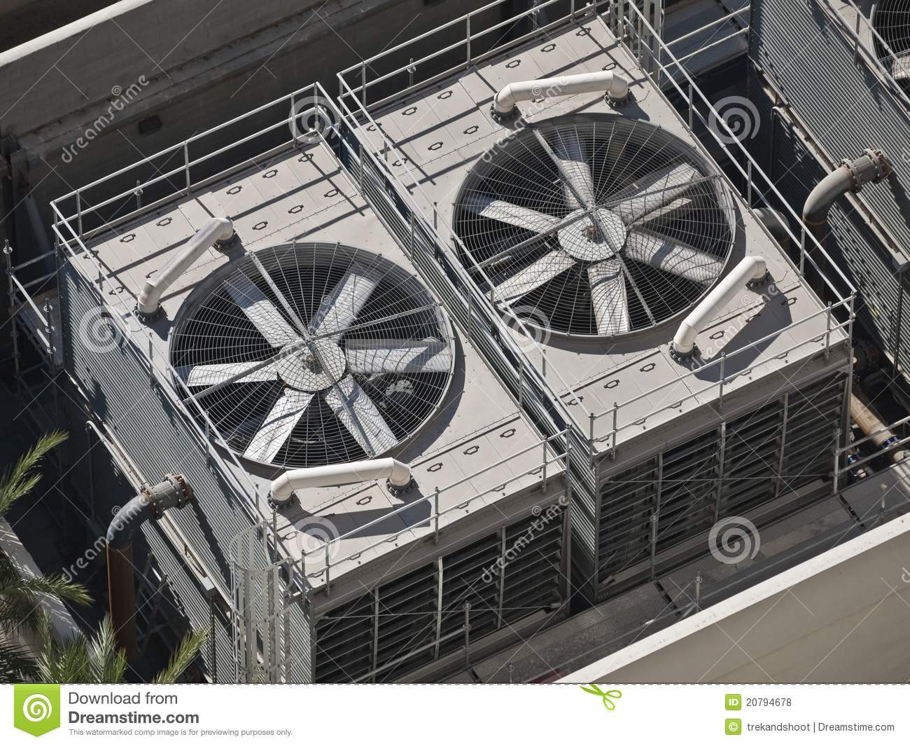 Big Commercial Air Conditioners Stock Photo Image Of
