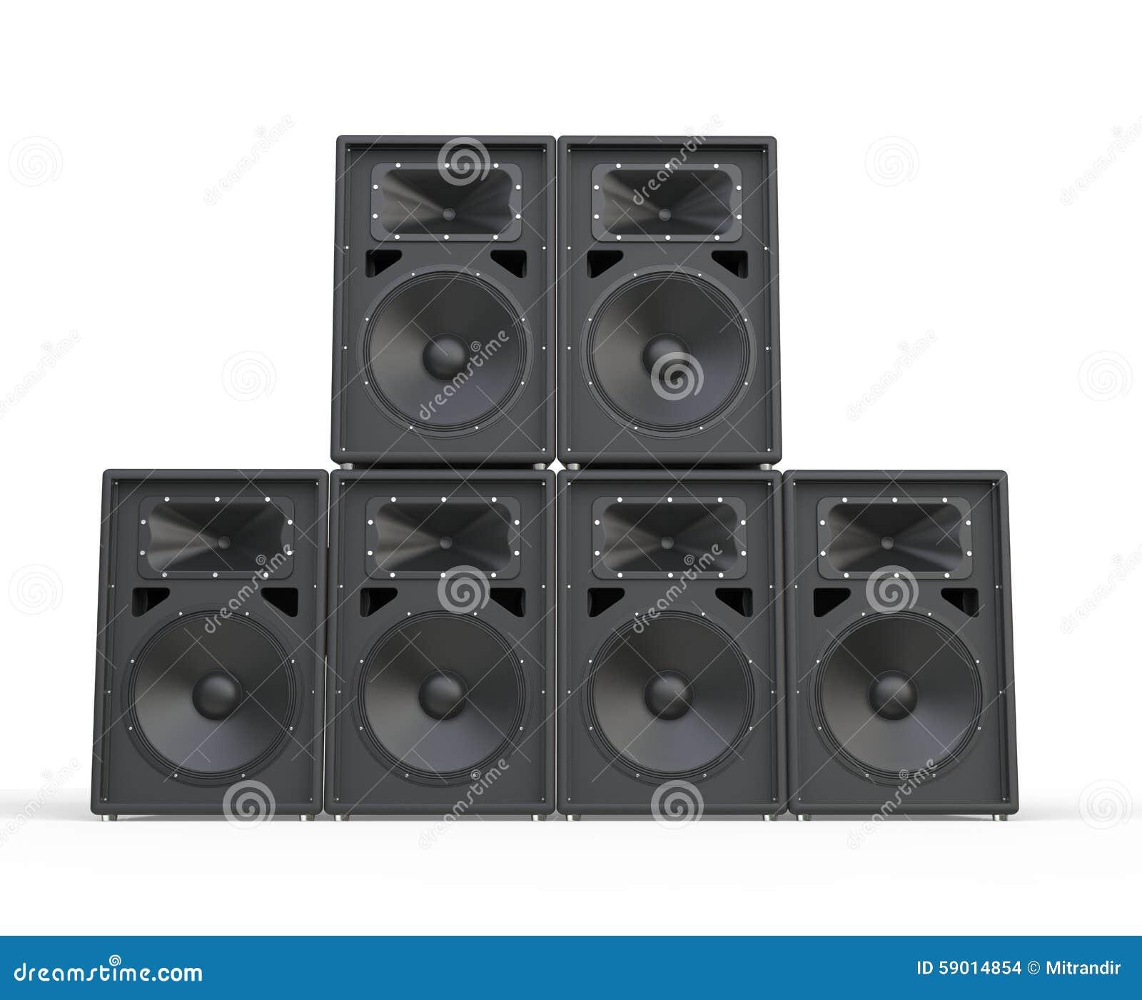 Big concert speakers s...