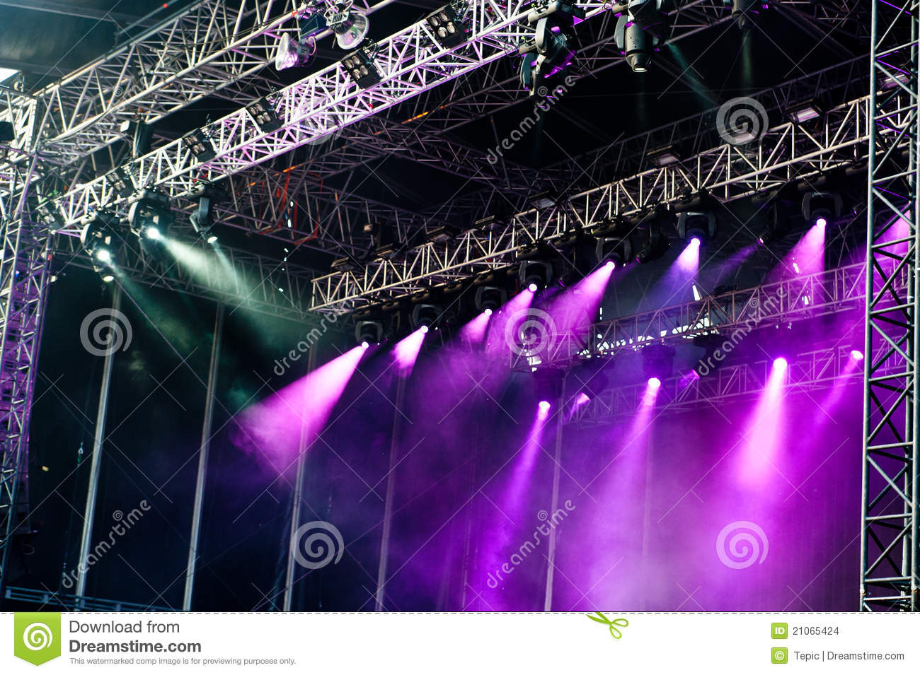 Big concert stage stock photo. Image of bulb, electric ...