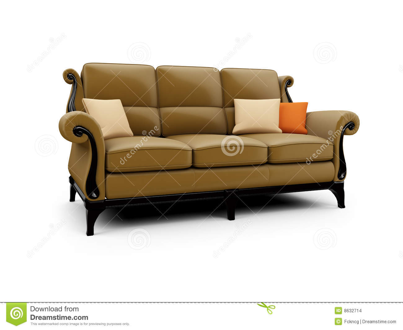 Big couch against white stock images image 8632714 for Big sofa technologies