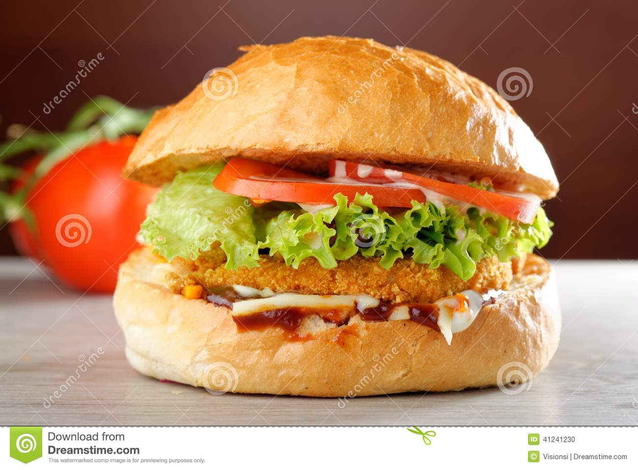 Big Crispy Chicken Burger Stock Photo Image 41241230 Watermelon Wallpaper Rainbow Find Free HD for Desktop [freshlhys.tk]