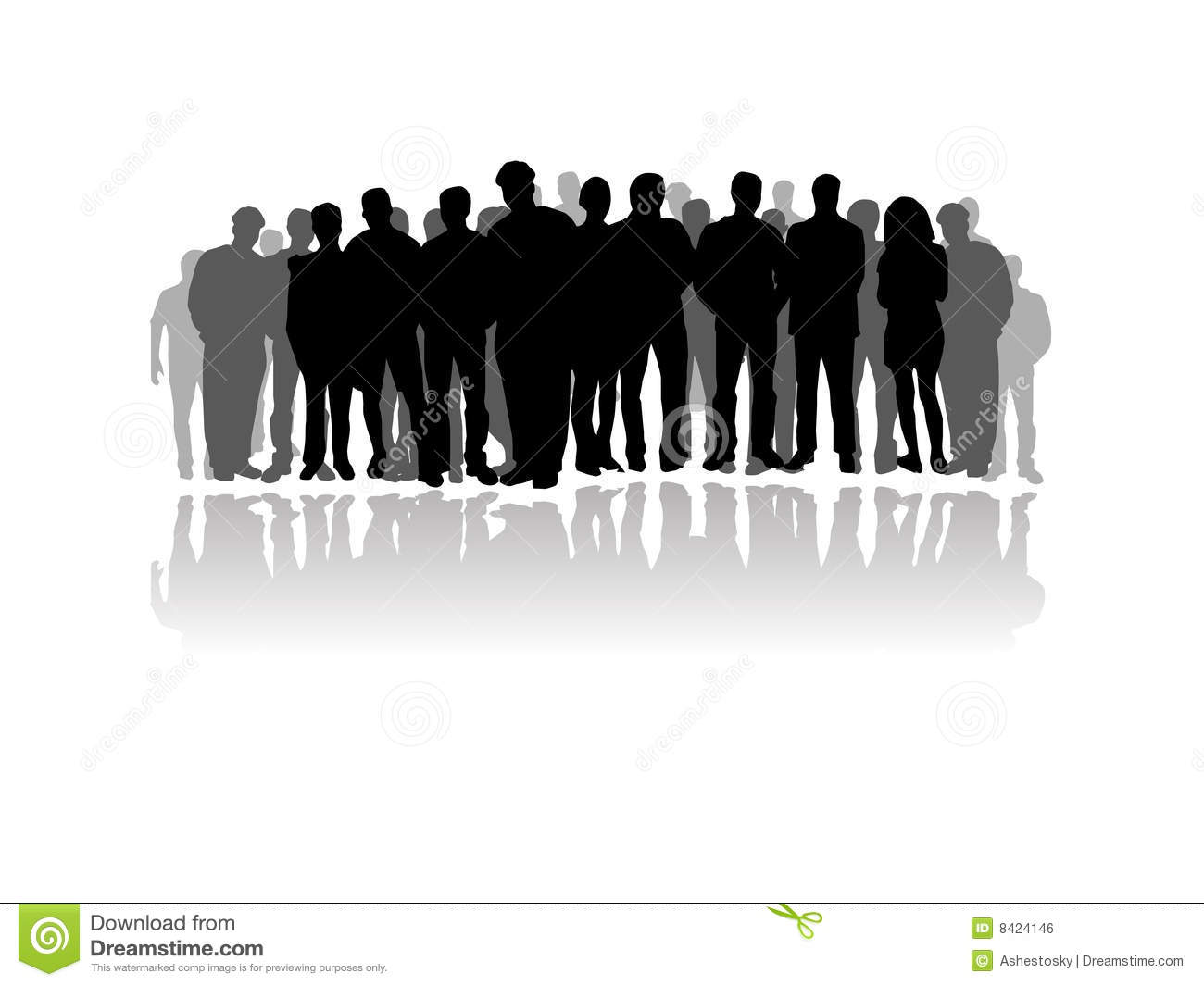 Standing crowd silhouette - photo#2