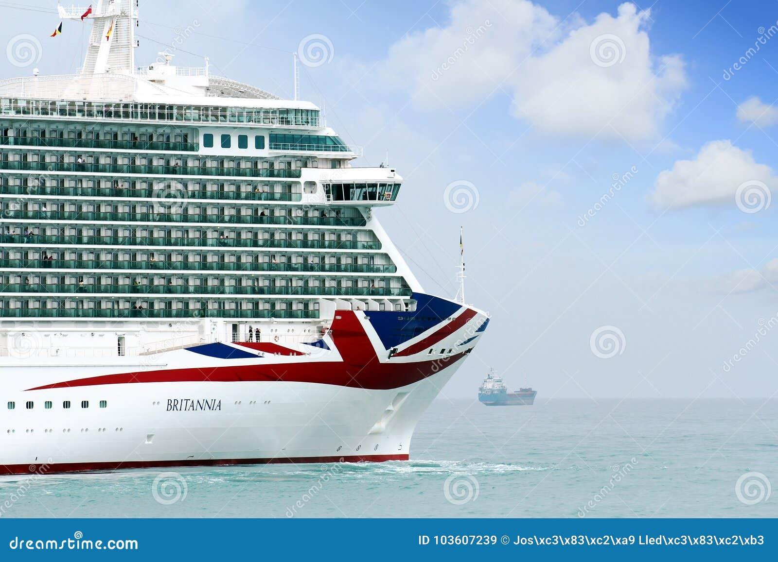 Big Cruise Britannia Of P&O Company Editorial Stock Image