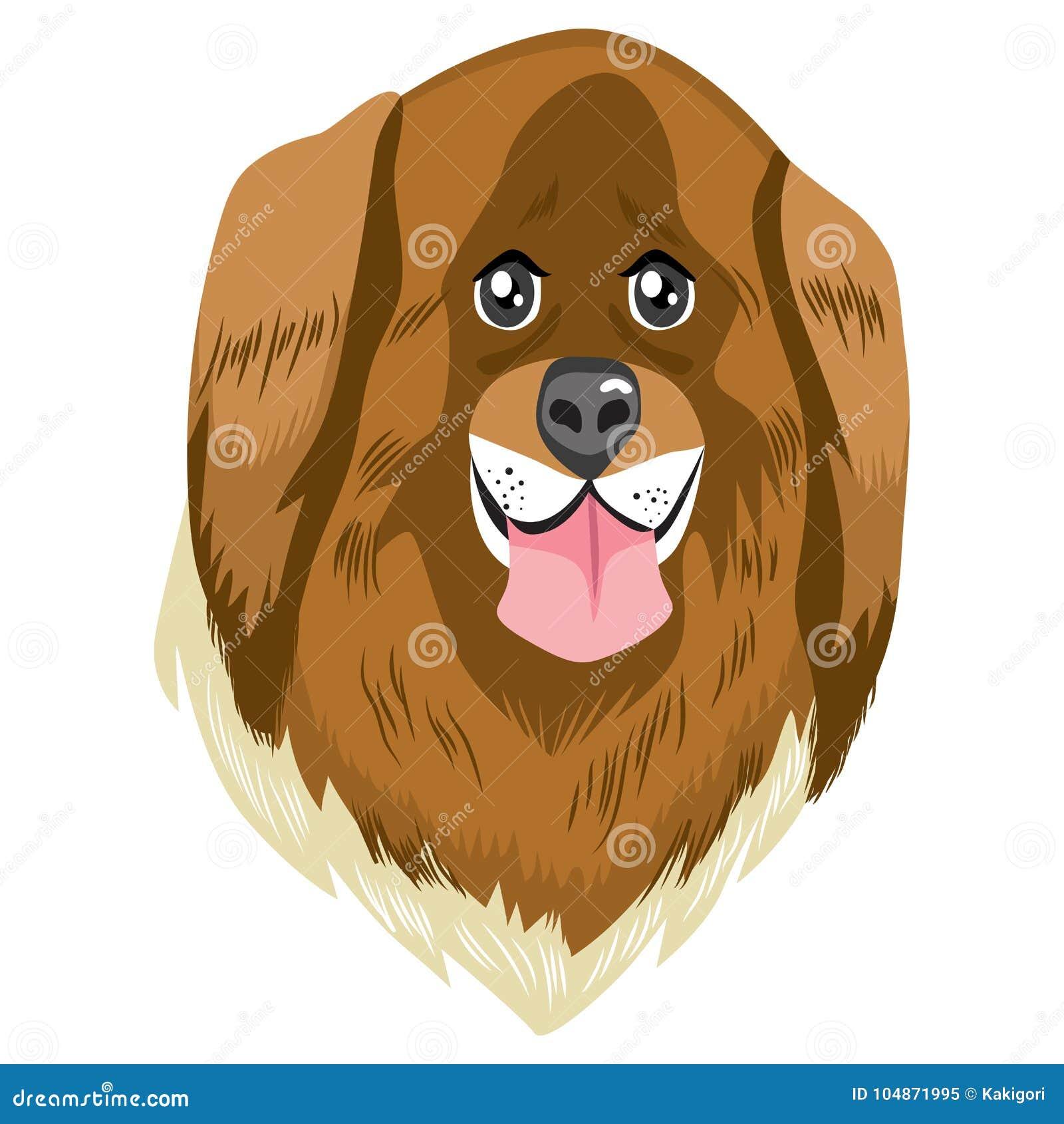 Big Dog Avatar Stock Vector. Illustration Of Character