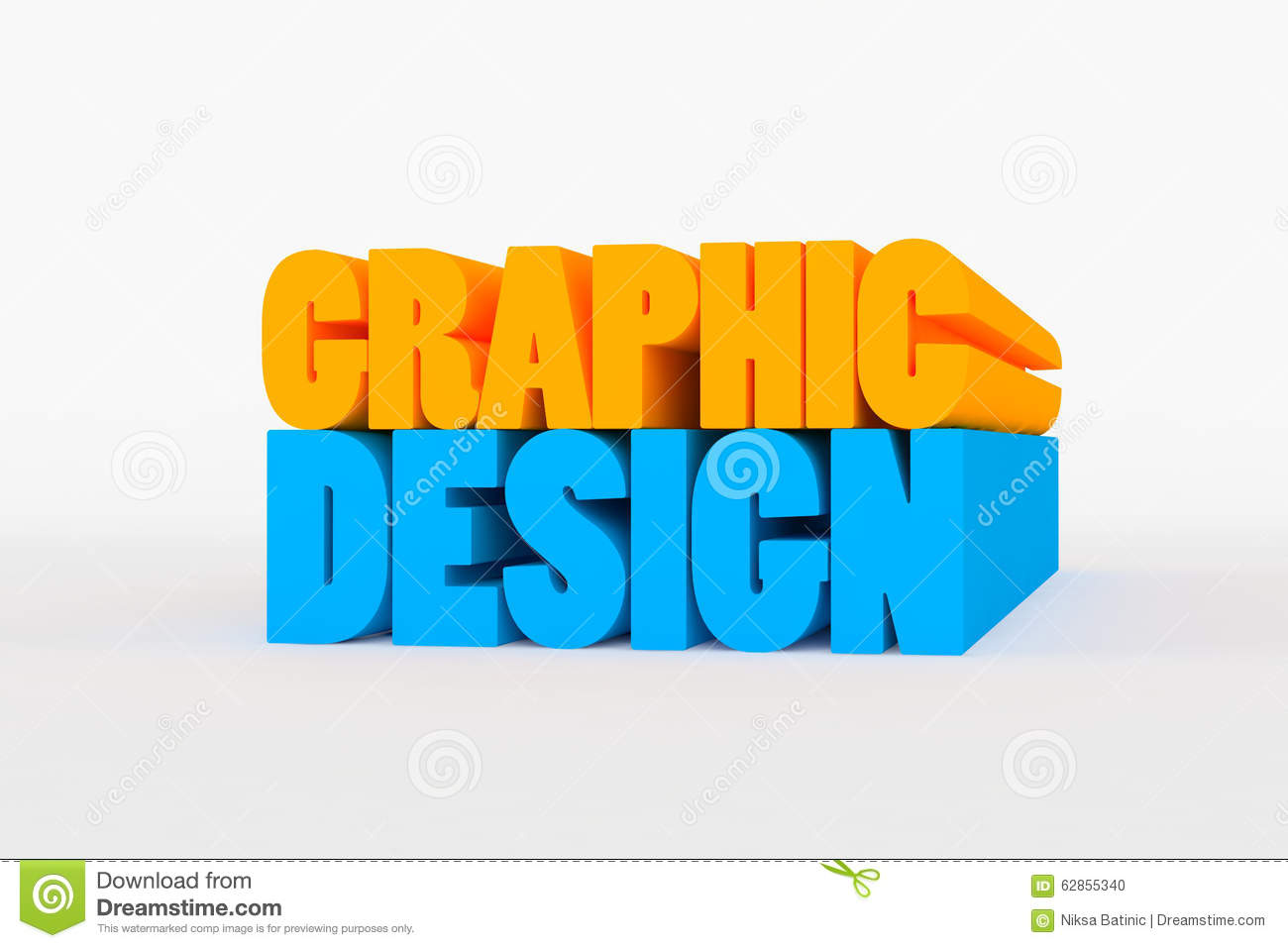 Big 3D Bold Text - Graphic Design Stock Illustration - Image: 62855340
