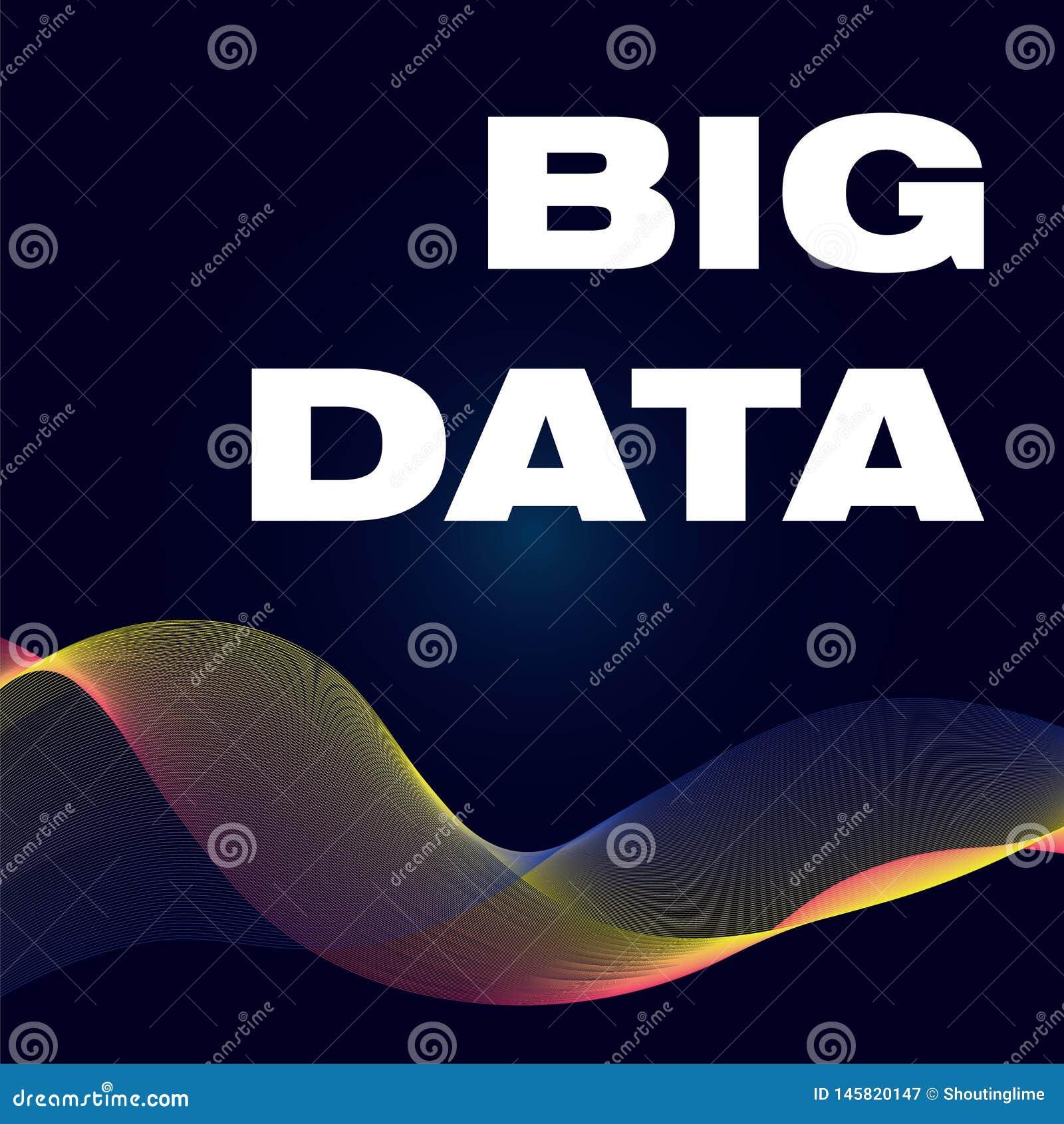Big Data-affiche met golfkleur BG