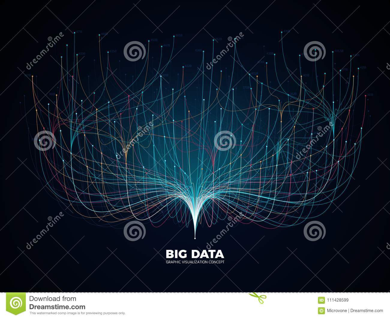 Big Data Network Visualization Concept  Digital Music Industry