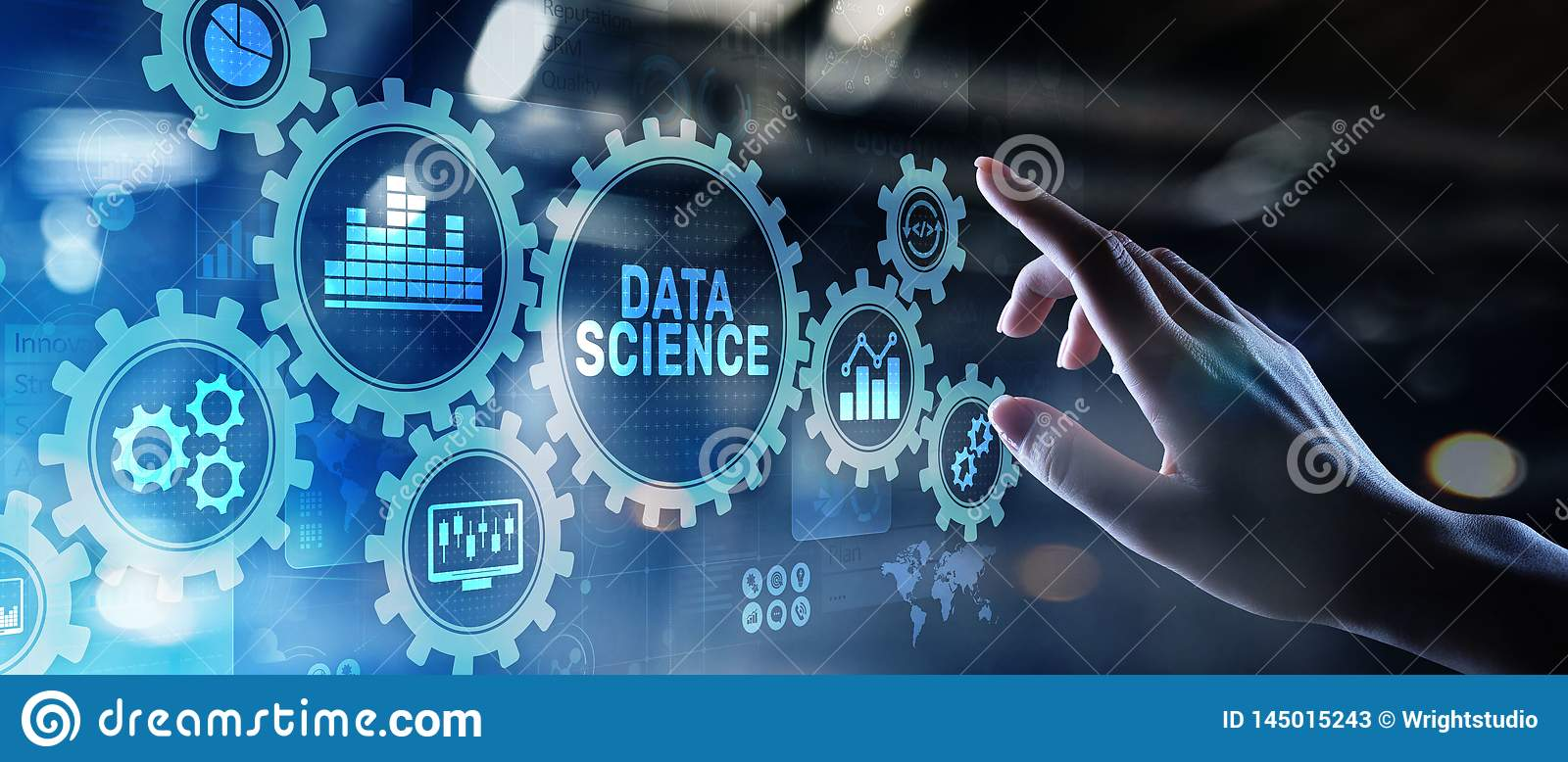 Big Data Science Analysis Business Technology Concept On ...