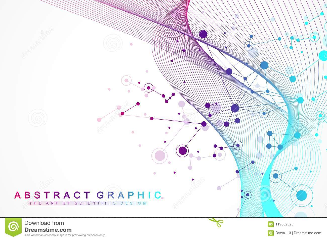 Big data visualization. Artificial Intelligence and Machine Learning Concept. Graphic abstract background communication