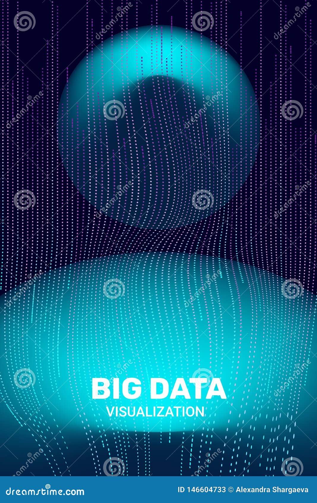Big Data Visualization. 3D Futuristic Information.
