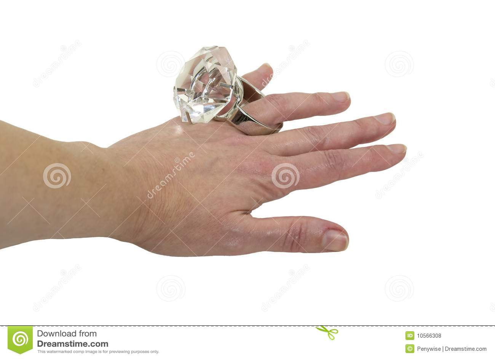 big diamond engagement ring royalty free stock photos