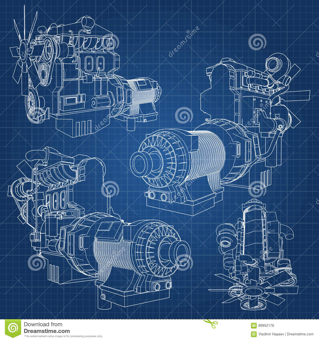 A big diesel engine with the truck depicted in the contour lines on a big diesel engine with the truck depicted in the contour lines on graph paper the contours of the black line on the blue backgr industrial gear malvernweather Images