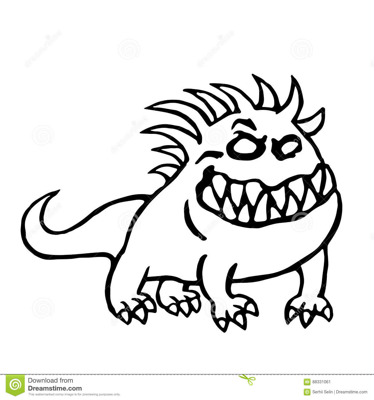 Big Dog From Hell Vector Illustration Stock Vector Illustration