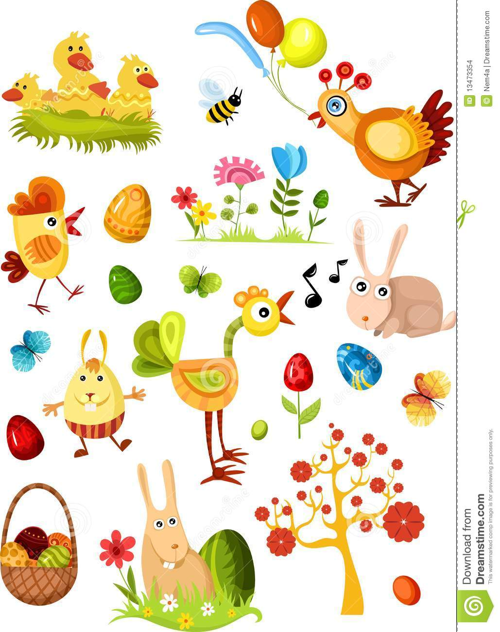 Download Big easter set new stock vector. Illustration of herb - 13473354