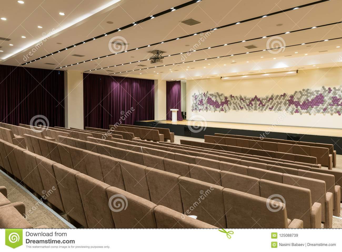 Big Empty Modern Meeting Conference Hall Stock Image Image Of Class Center 125088739