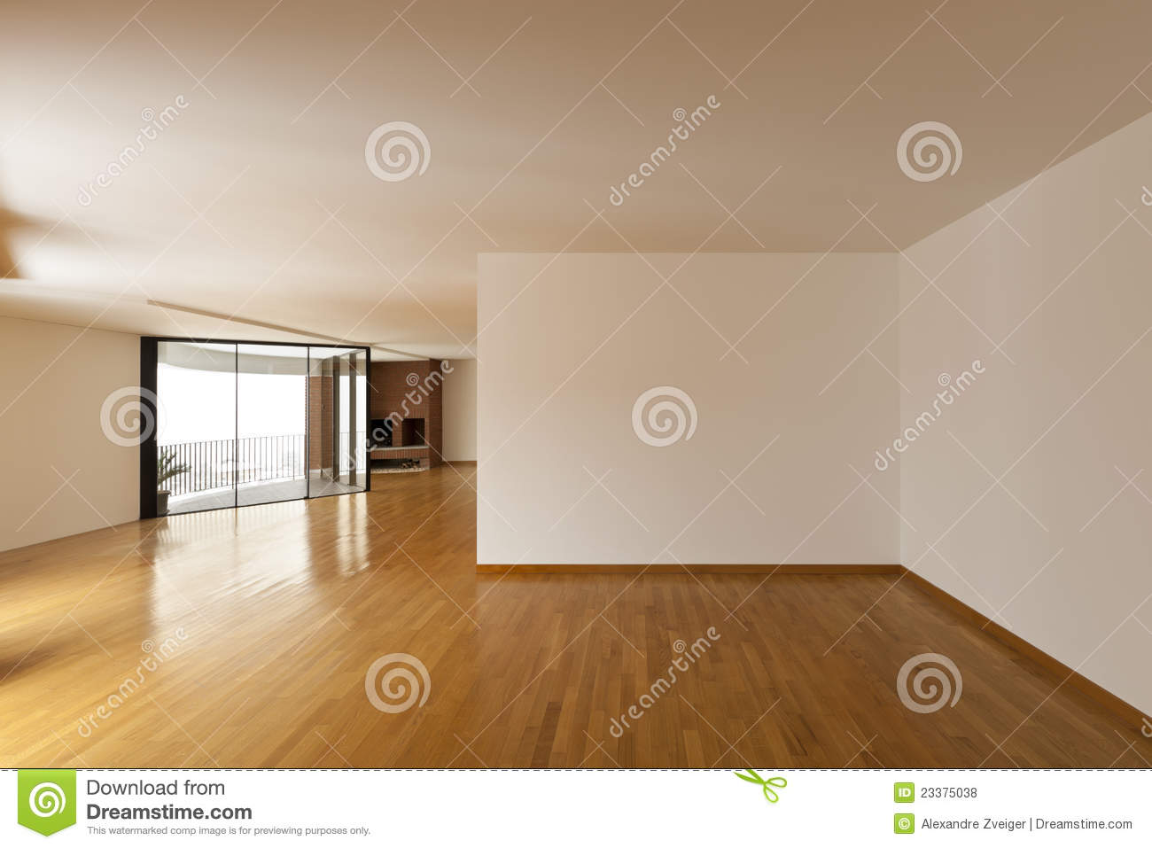 Big Empty Room Stock Photo Image Of Room Space Bright