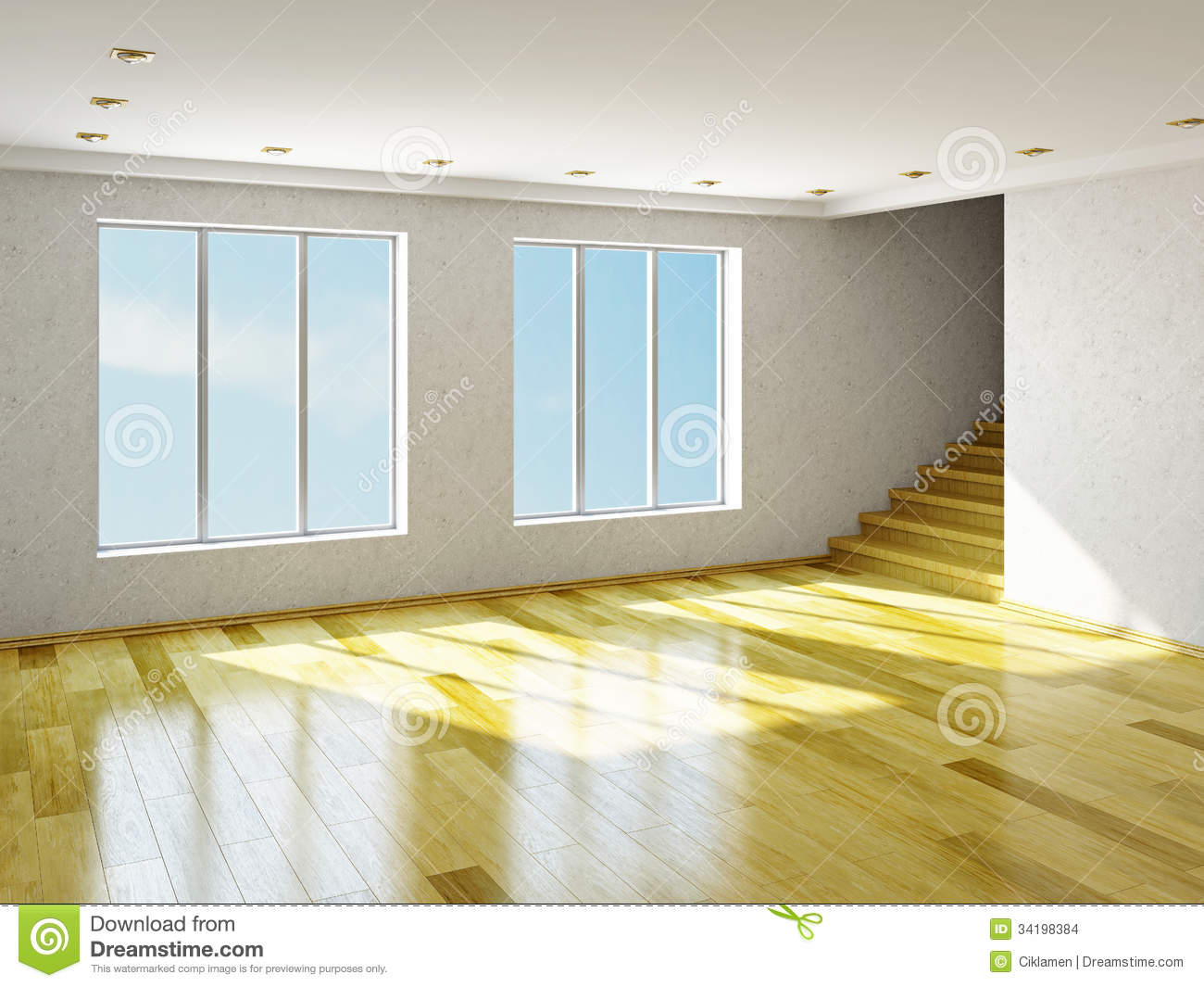 The Big Empty Room Stock Images Image 34198384