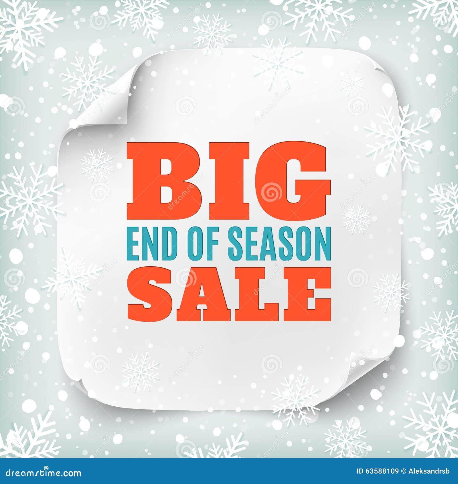 Big Sale Winter Sale Sign Design Template. Xmas Season Clearance ...