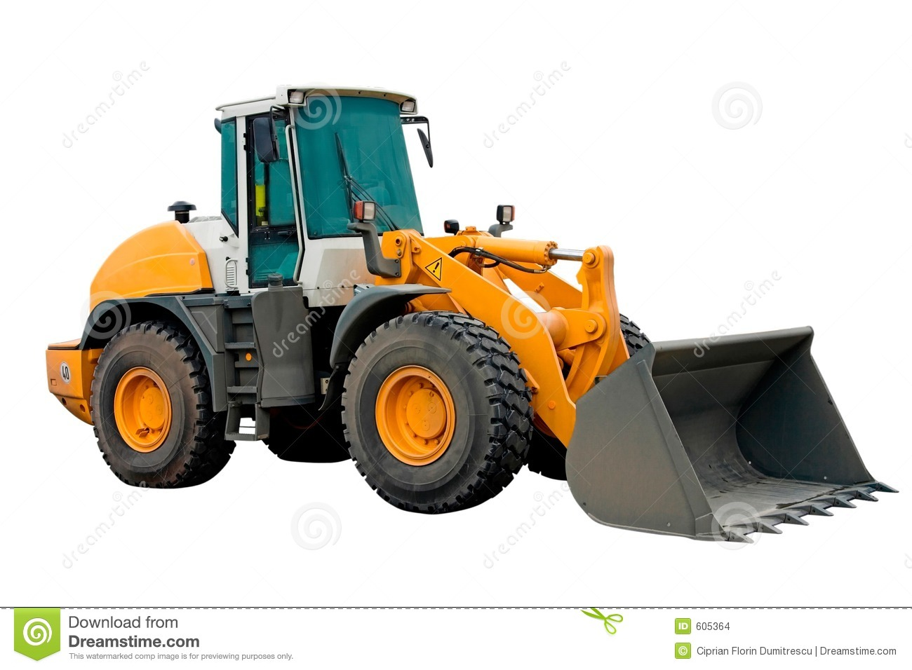 Big Excavator Machinery Stock Images - Image: 605364