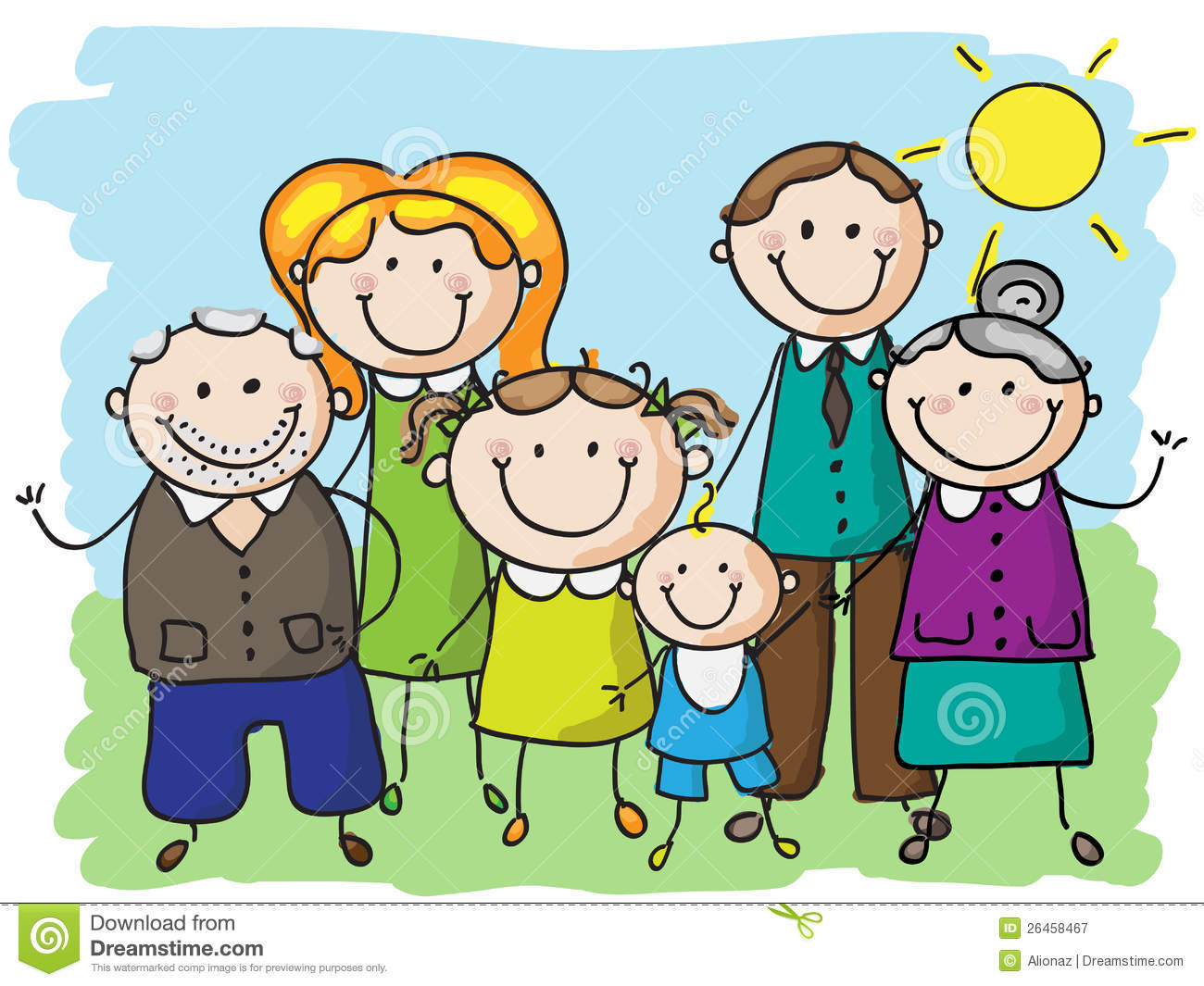 Big Family Royalty Free Stock Photography Image 26458467