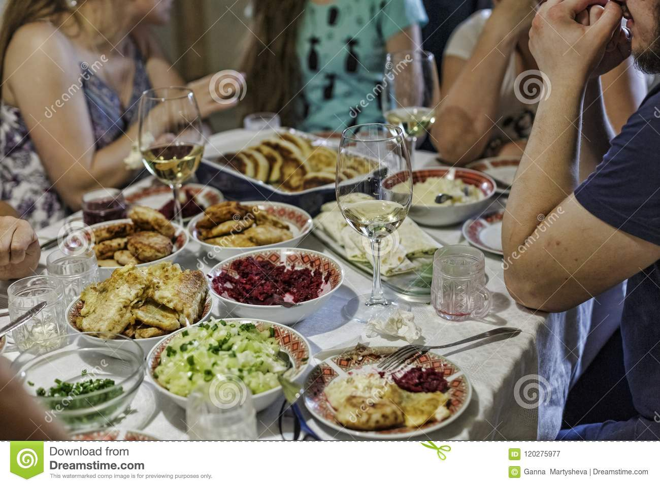 Dinner, family, table, feast, food, gathering, group, meal, party, people, celebration, Birthday, Thanksgiving, Christmas, New Yea