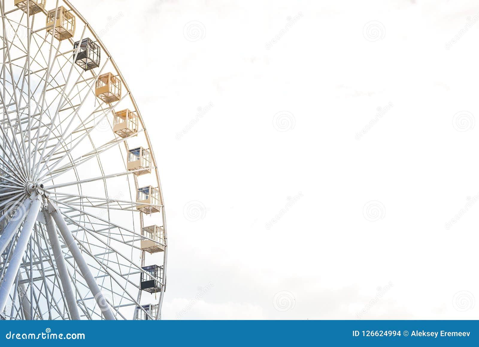 Big Ferris Wheel Against The Sky Stock Photo - Image of decorative ...