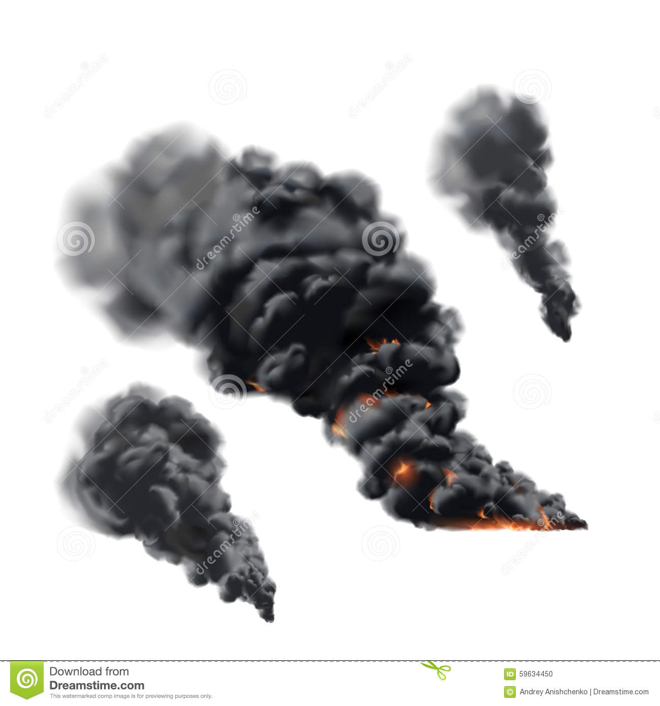Big Fire Smoke Set Stock Vector - Image: 59634450