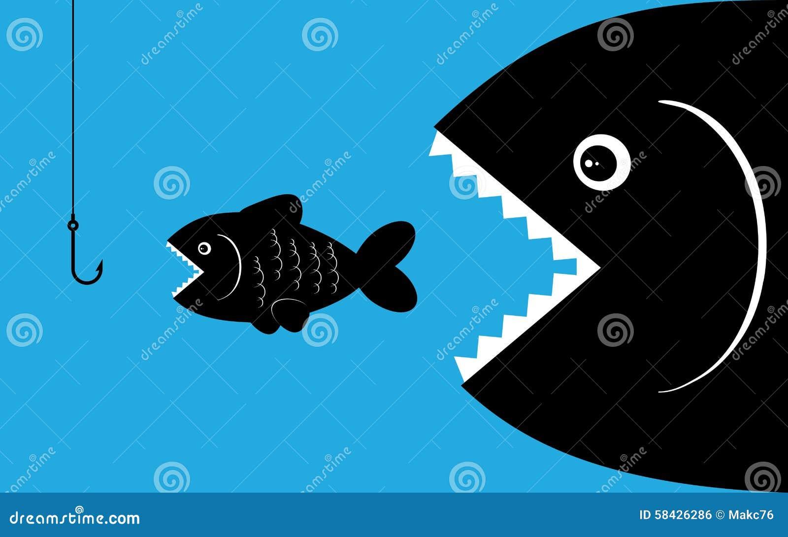 Big Fish With Bait Stock Vector Illustration Of Fish 58426286