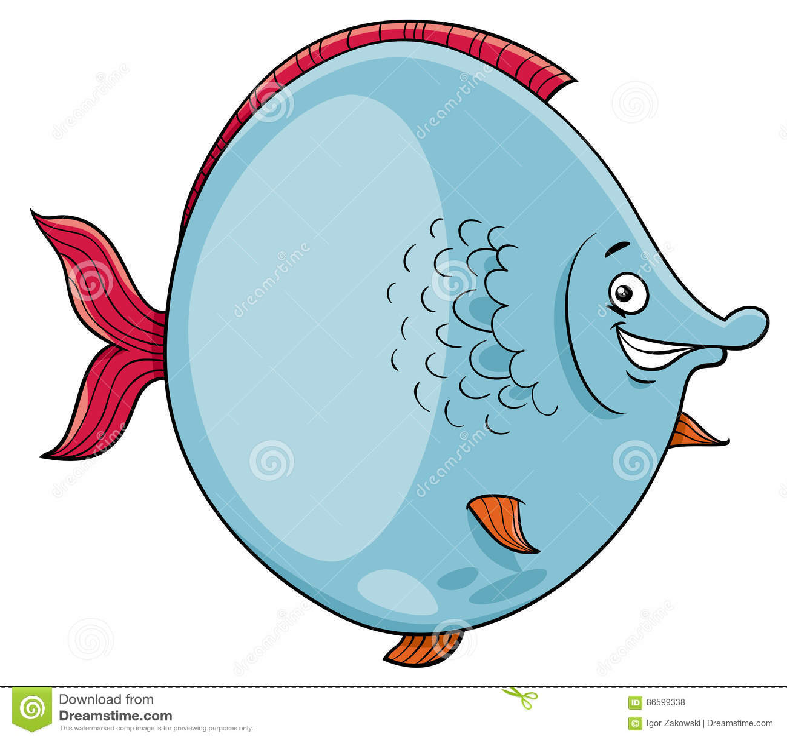 Big fish cartoon character stock vector illustration of large download big fish cartoon character stock vector illustration of large 86599338 thecheapjerseys Choice Image