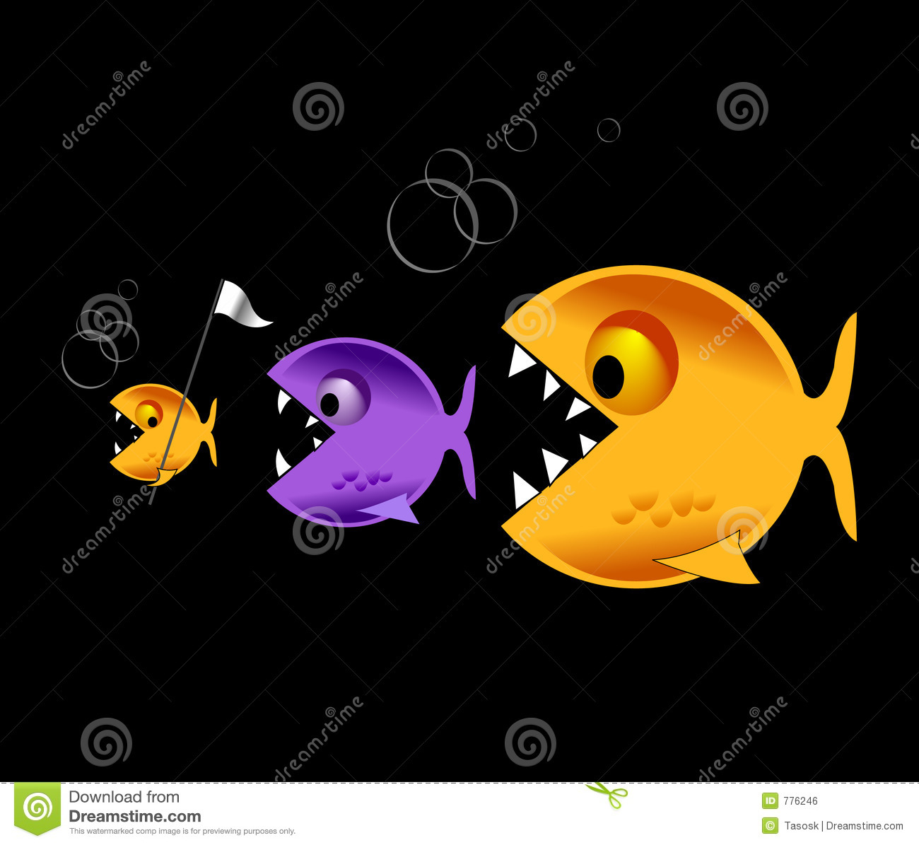 Big fish eat little fish royalty free stock image image for Big fish little fish