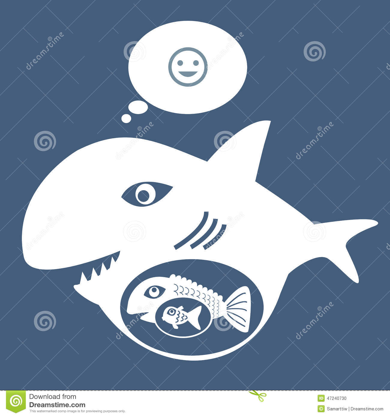 Big fish eat little fish stock vector image 47240730 for Big fish little fish
