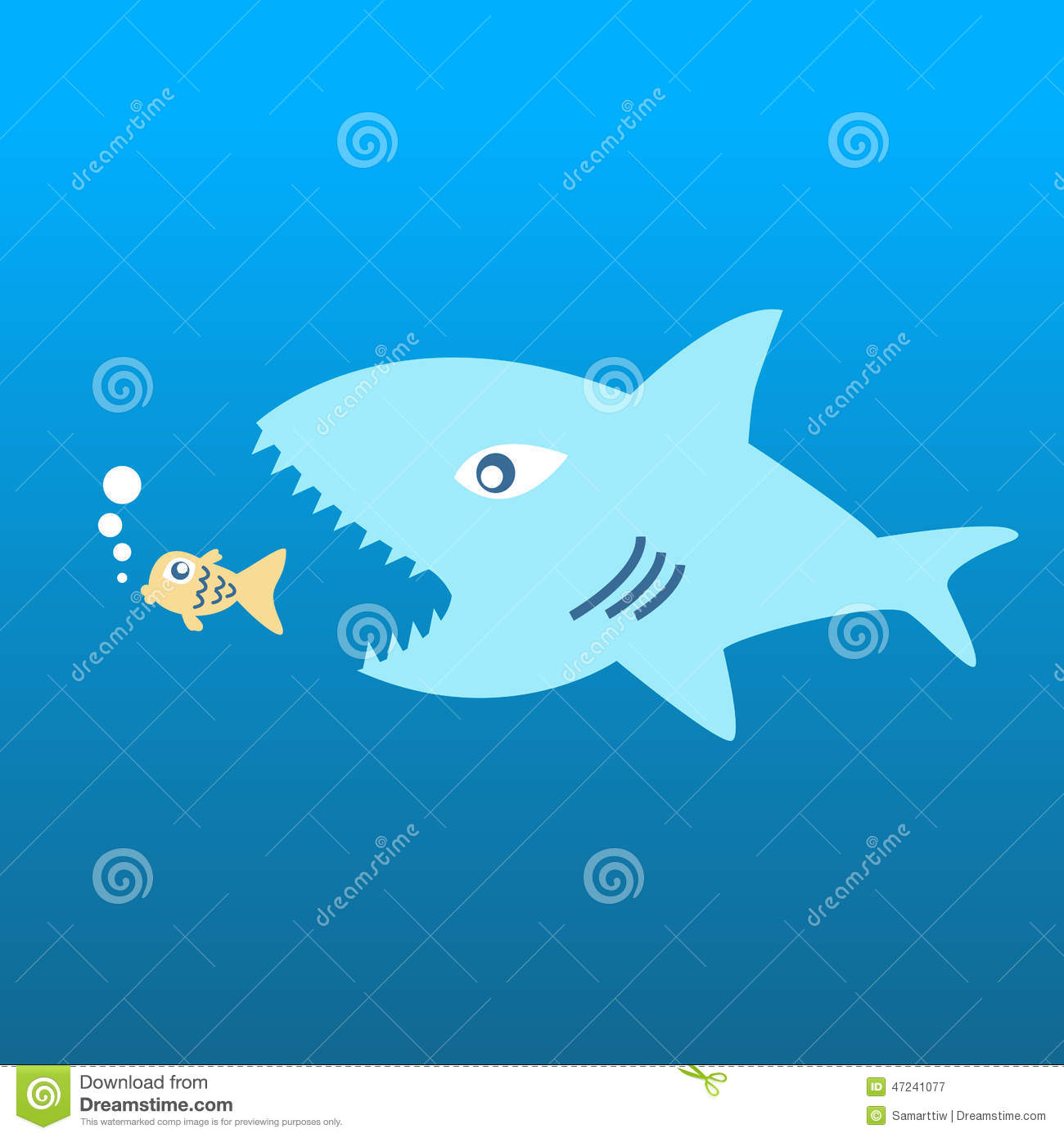 Big fish eat little fish stock vector image 47241077 for Big fish little fish