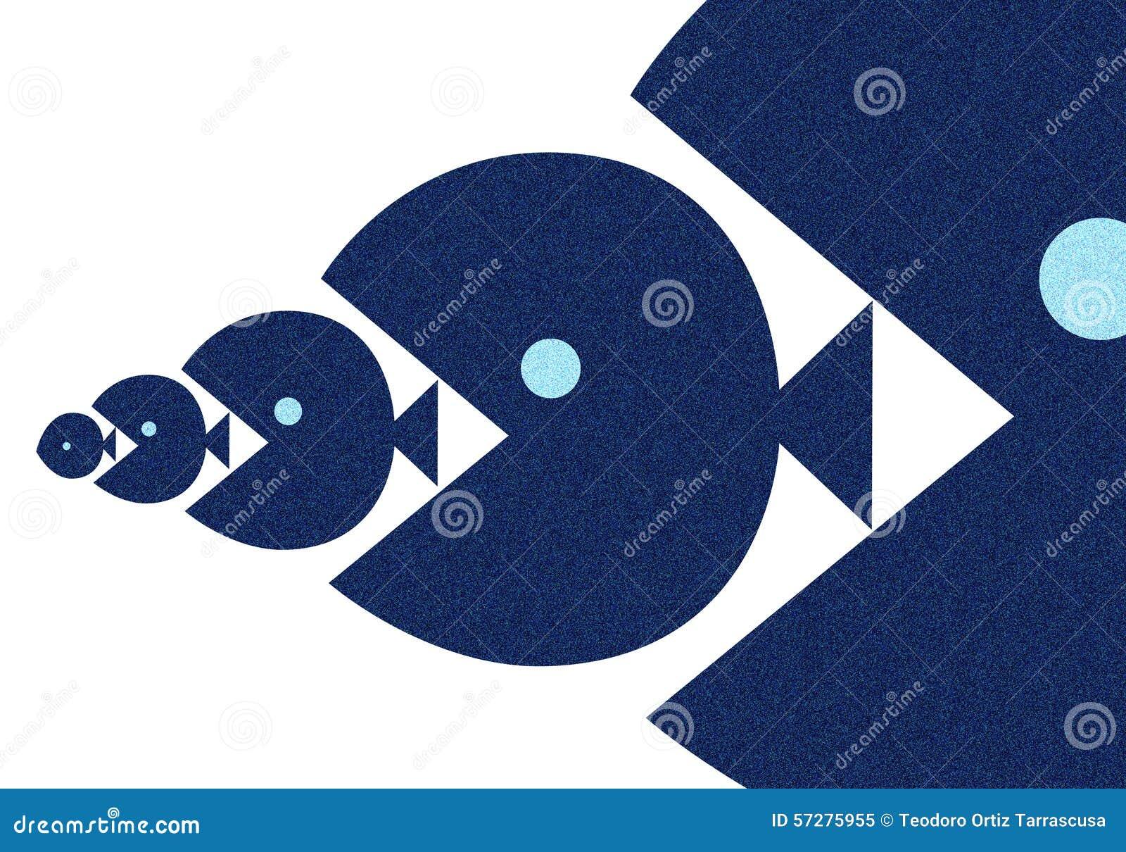 Big Fish Eat The Small Stock Illustration Illustration Of Fish
