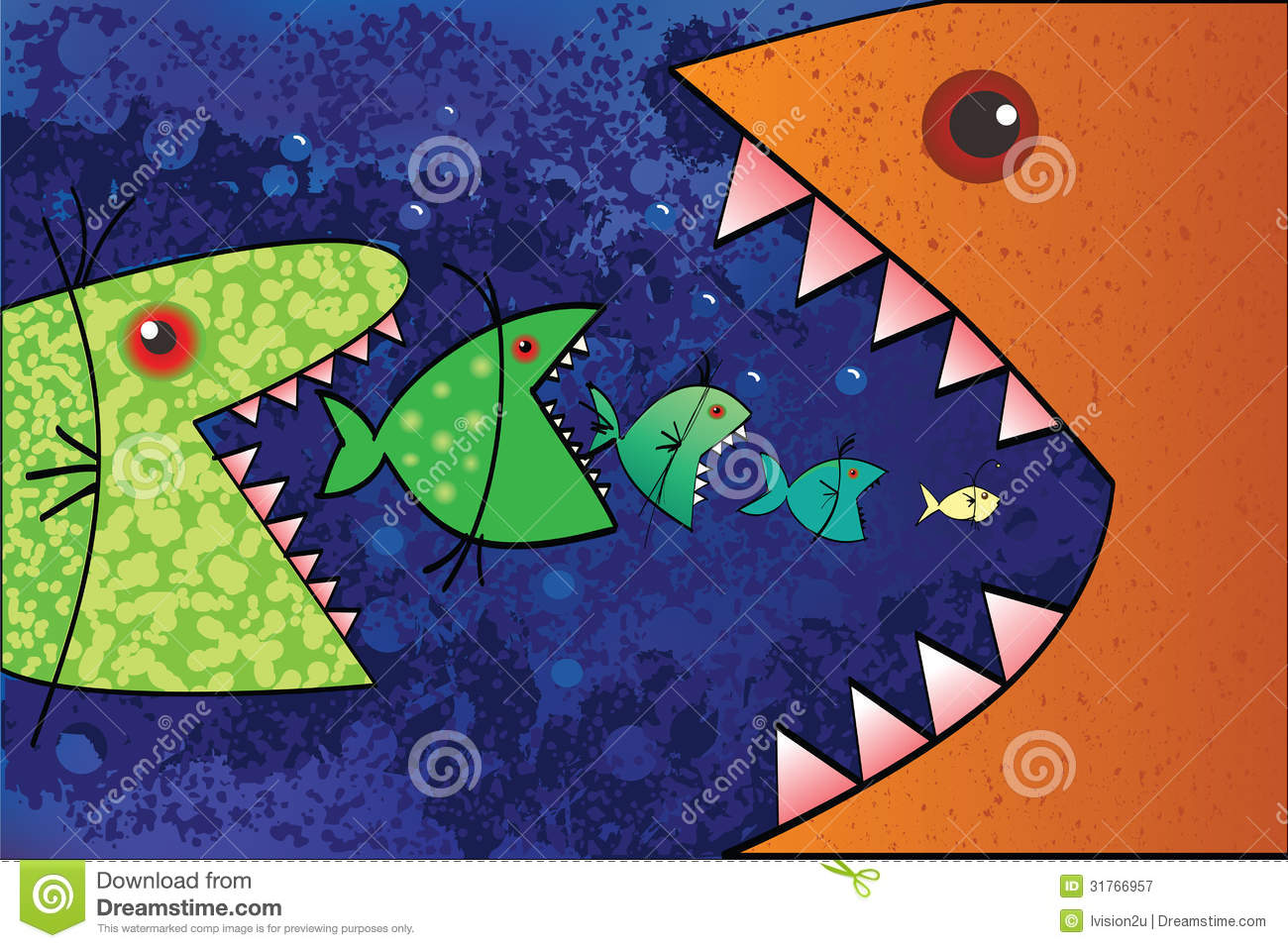 Big fish eat small fish stock vector illustration of for Fish that eat other fish