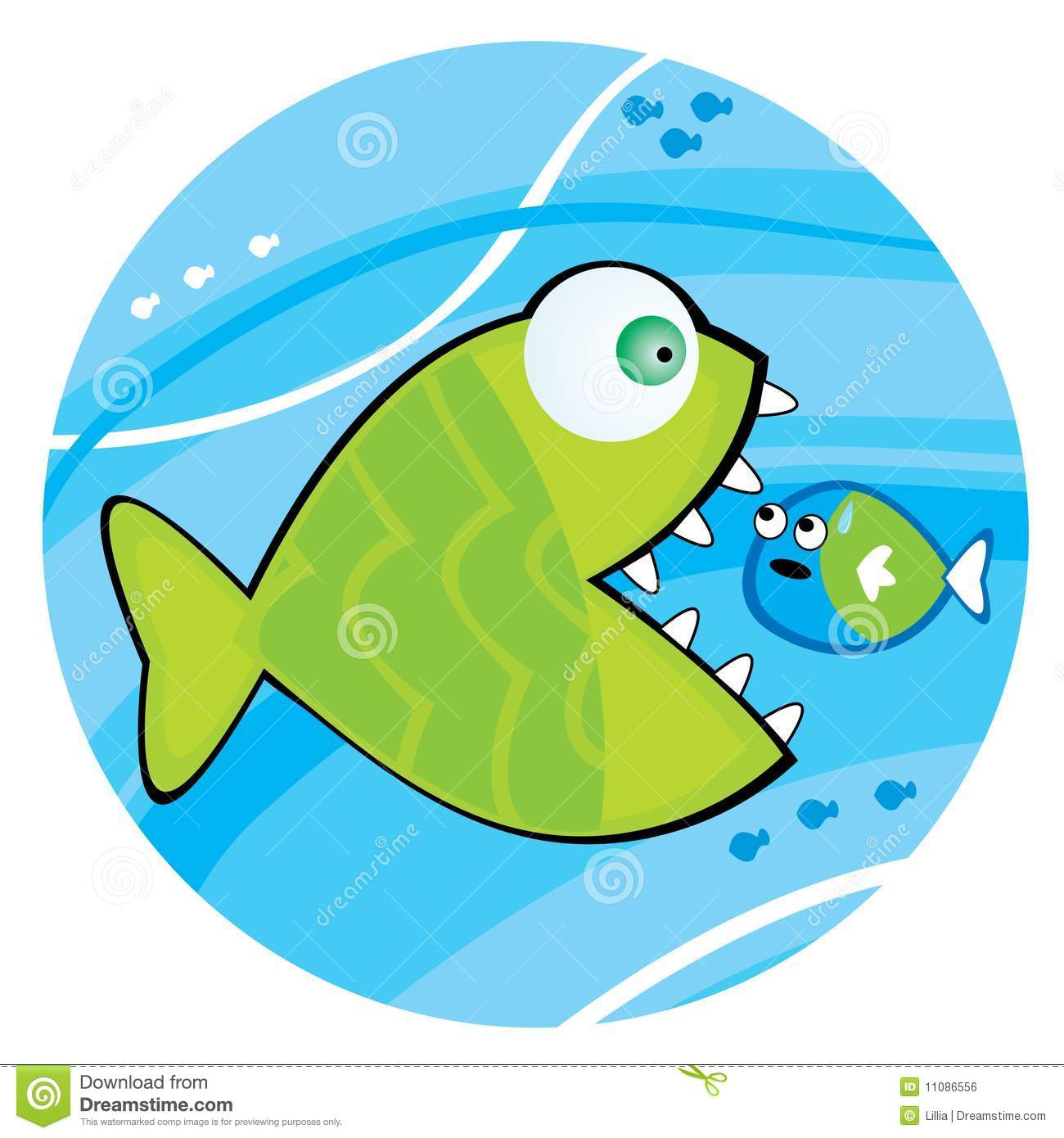 Big fish eating a little fish royalty free stock image for Big fish little fish