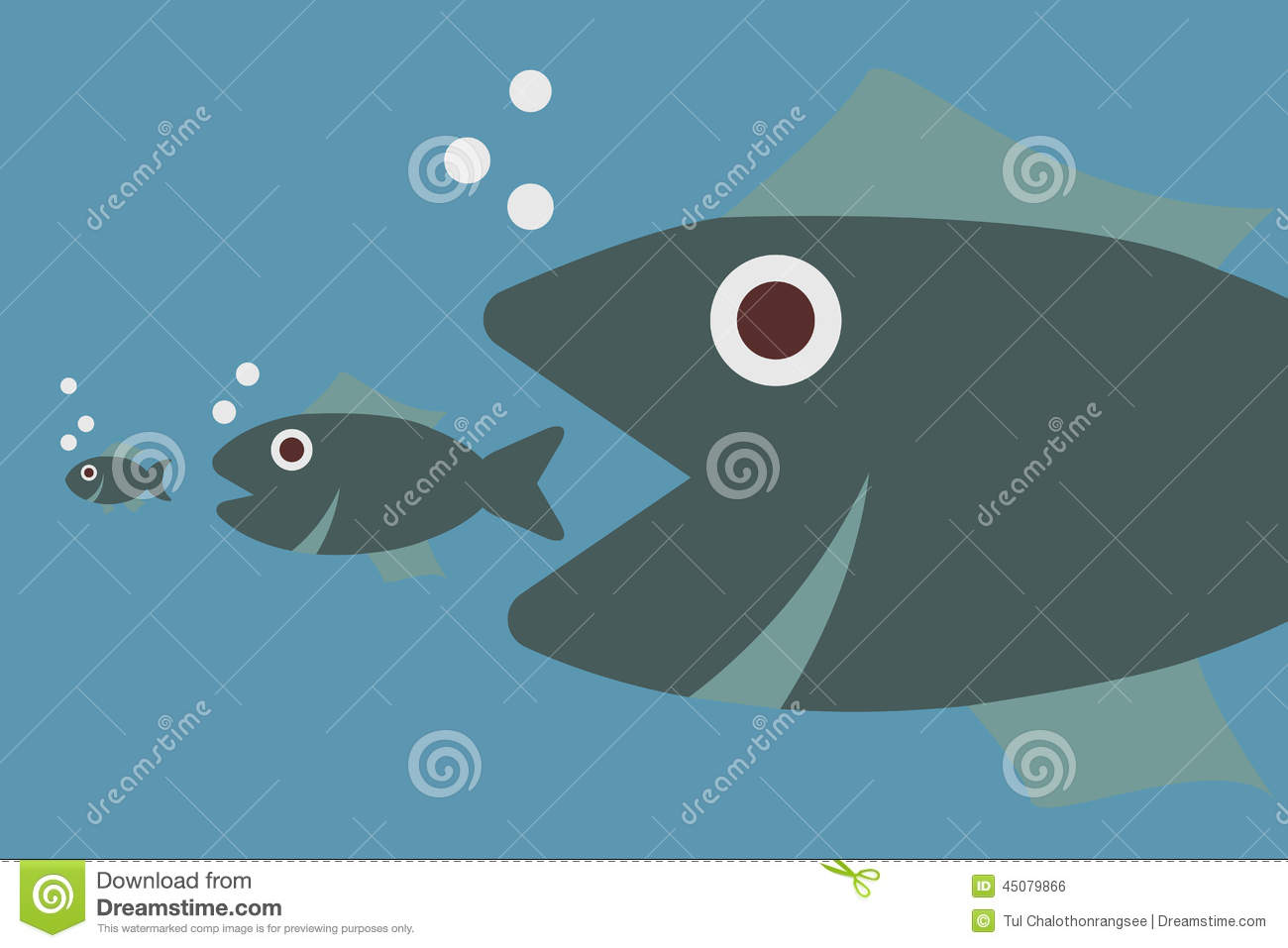 Big fish eating little fish for Big fish little fish