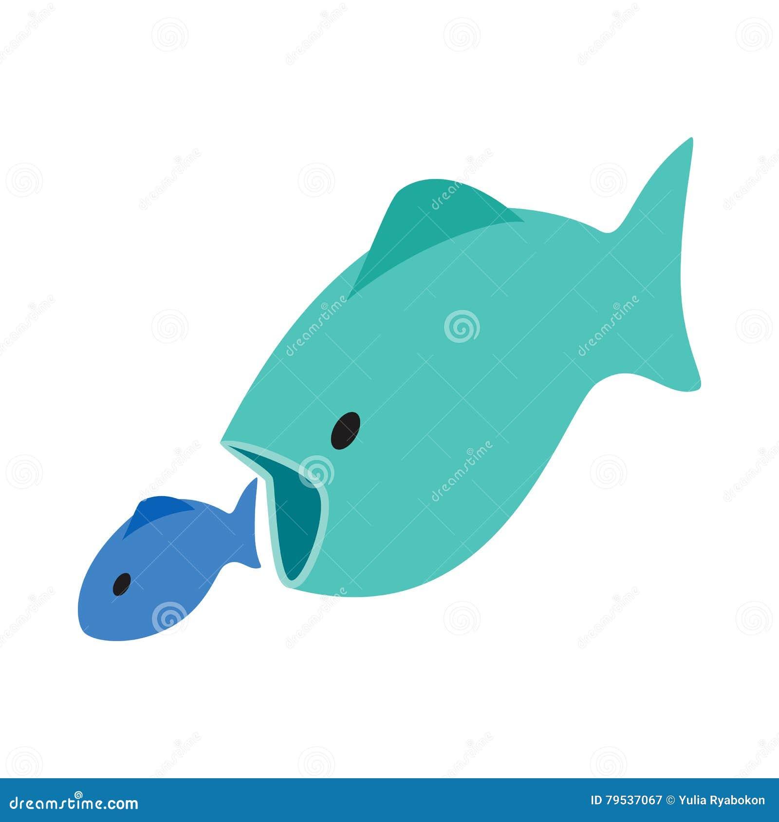 Big fish little fish royalty free illustration for Big fish eat small fish