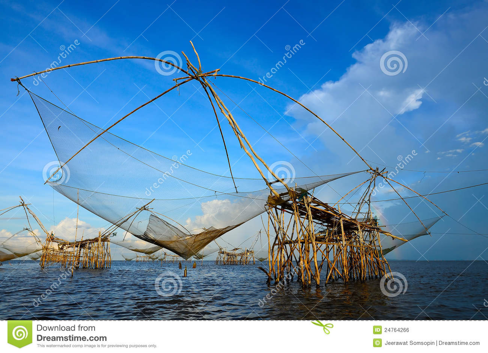 The big fish lift nets royalty free stock image image for Big fishing net