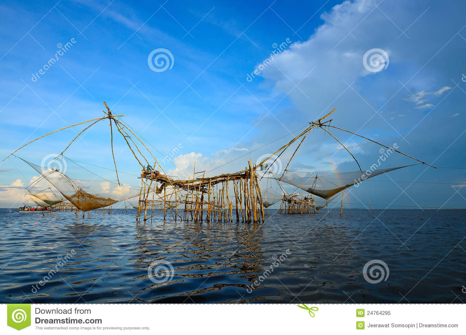 The big fish lift nets royalty free stock photo image for Big fishing net