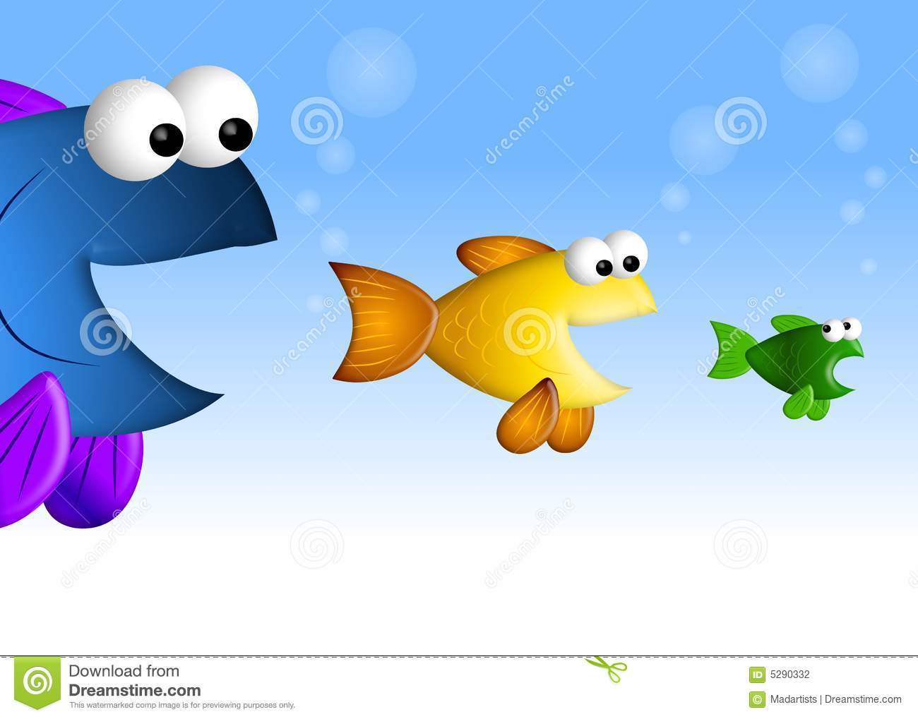 Big fish little fish stock photography image 5290332 for Big fish little fish