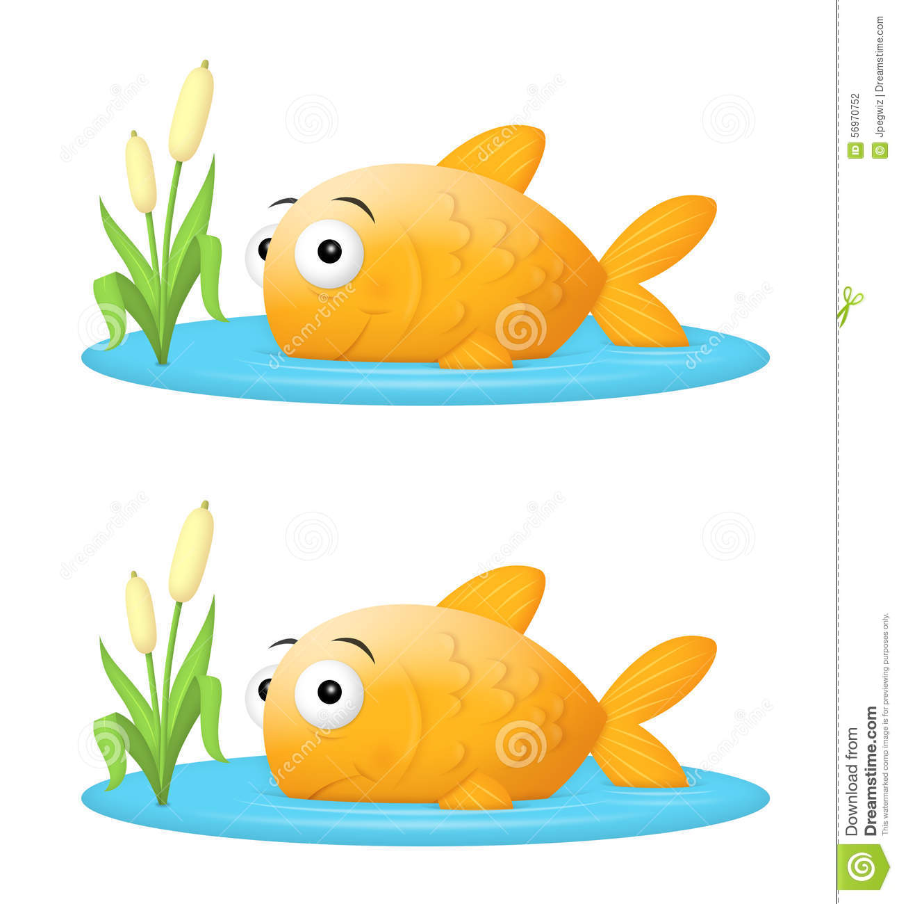 Big fish in a small pond royalty free cartoon for Big fish little pond