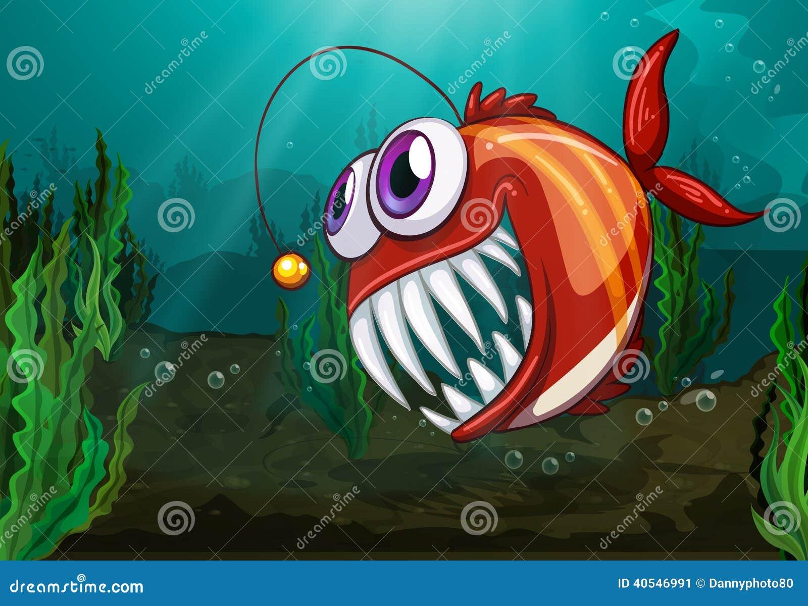 Stock Image Big Fish Under Sea Illustration Image40546991