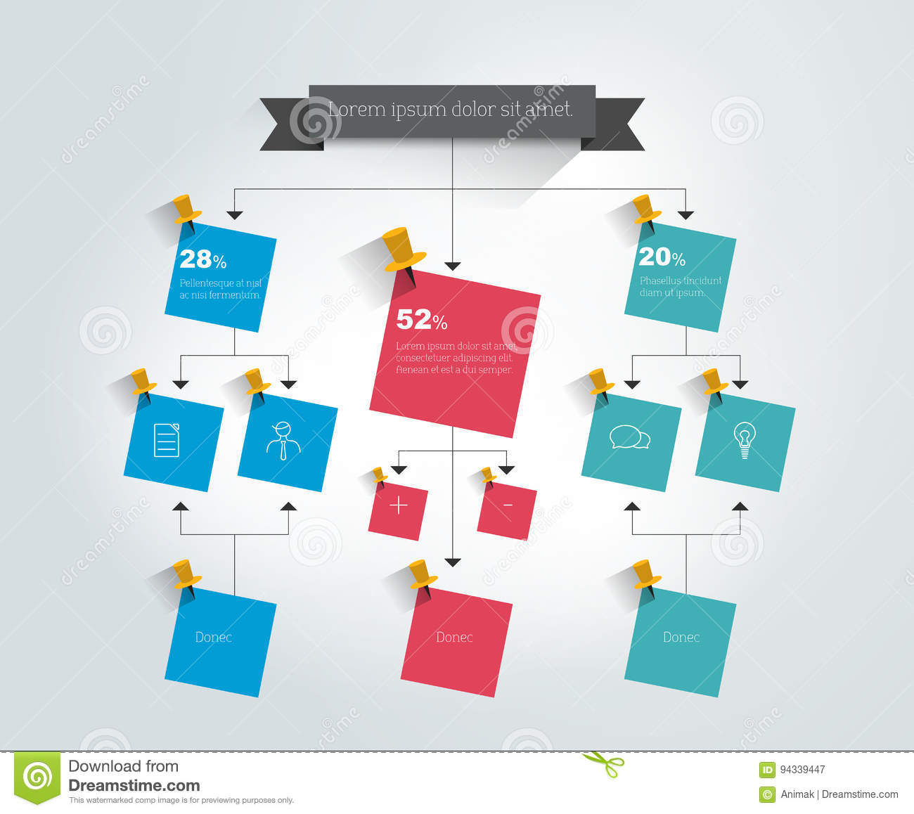 Big flow chart colored shadows scheme stock vector big flow chart colored shadows scheme geenschuldenfo Image collections
