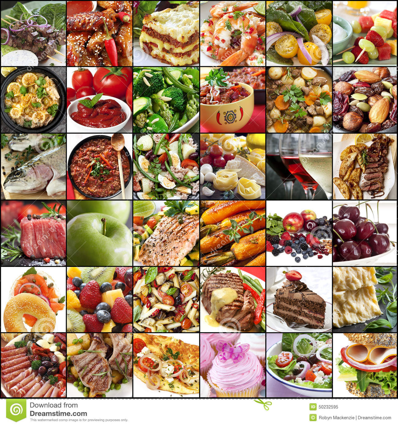 Big Food Collage Stock Image Image Of Dairy Background
