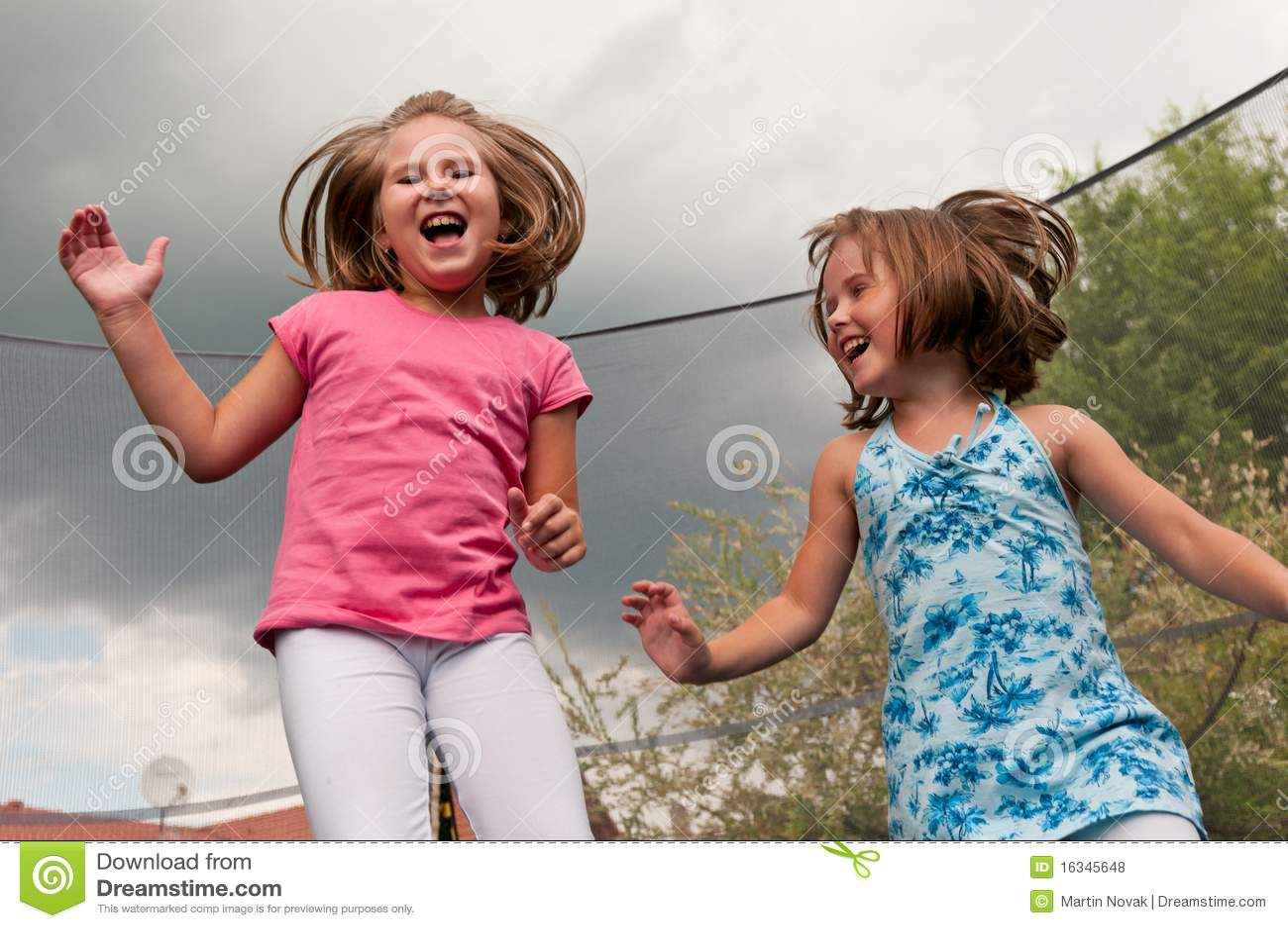 Big fun - childdren jumping