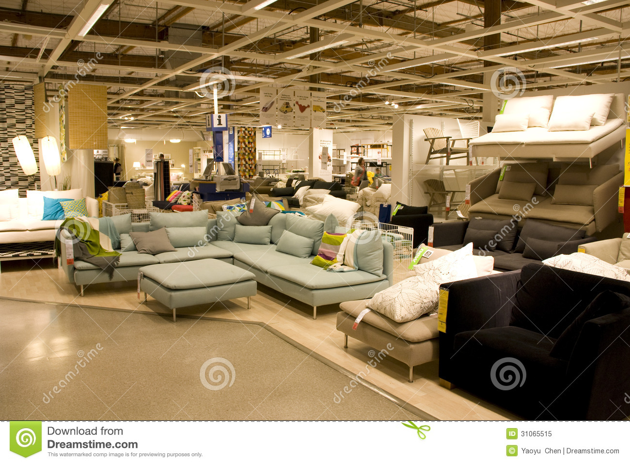Big furniture store editorial image image of lighting for Furniture warehouse seattle