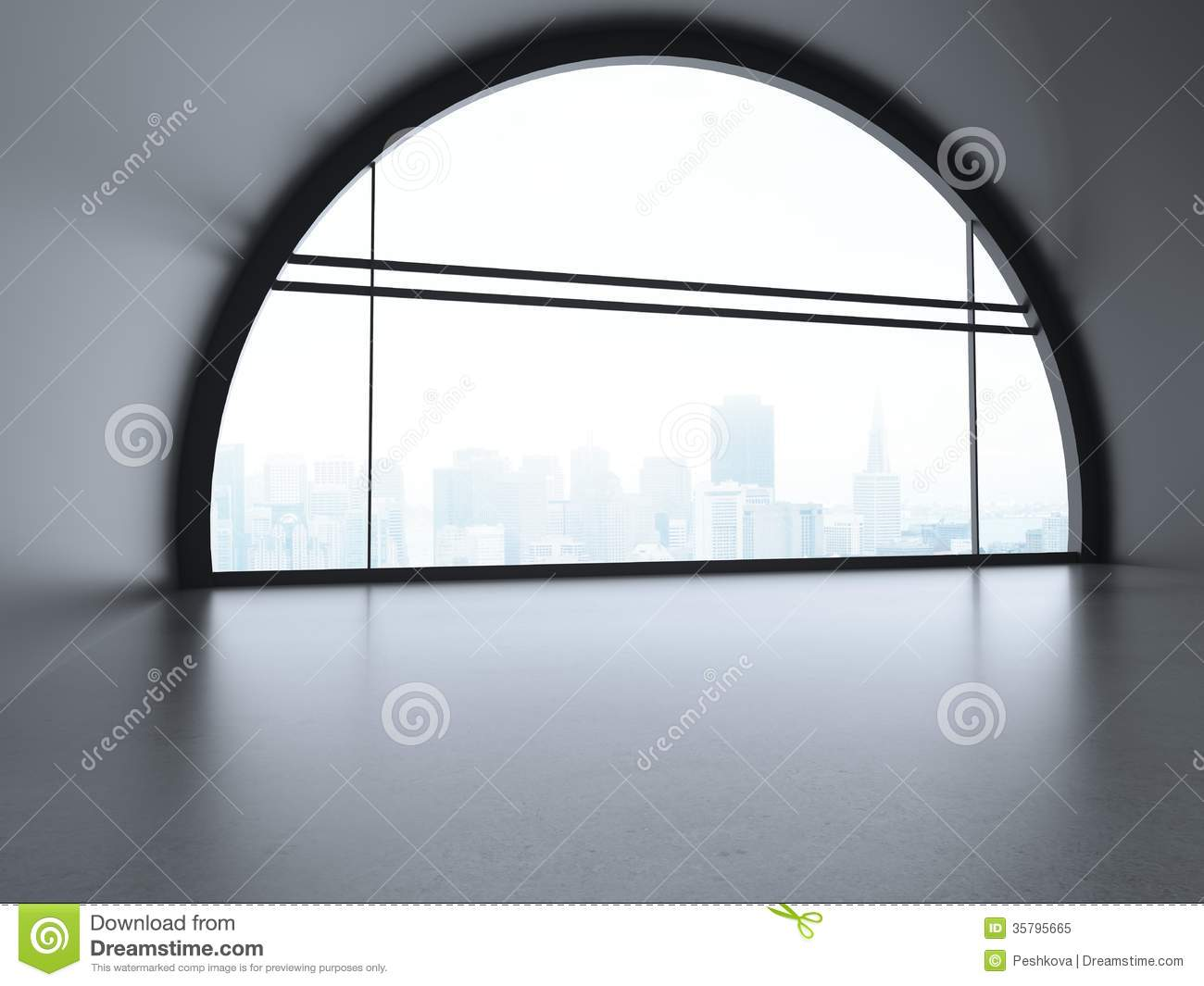 Big Futuristic Office Stock Image Image Of City Domestic