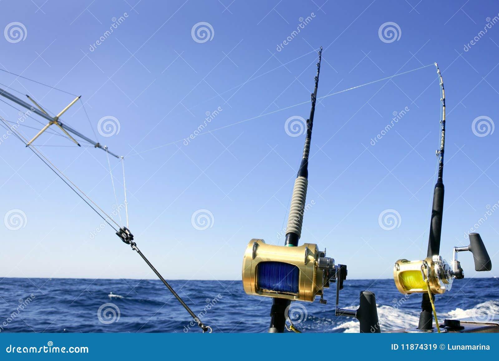 Big game boat fishing in deep sea stock image image of for Deep sea fishing boat