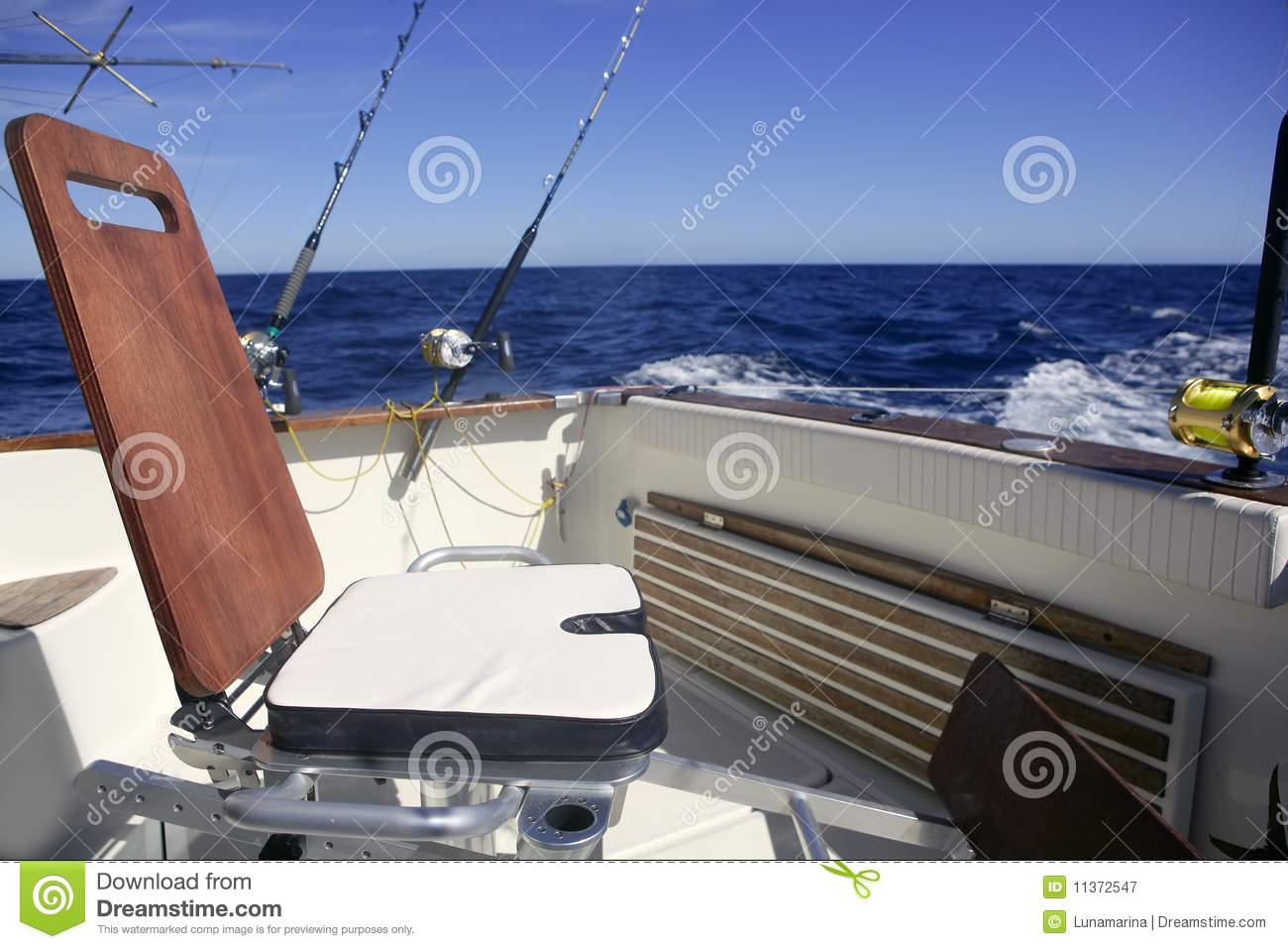 Fishing chair stock photography 19879010 for Boat fishing games