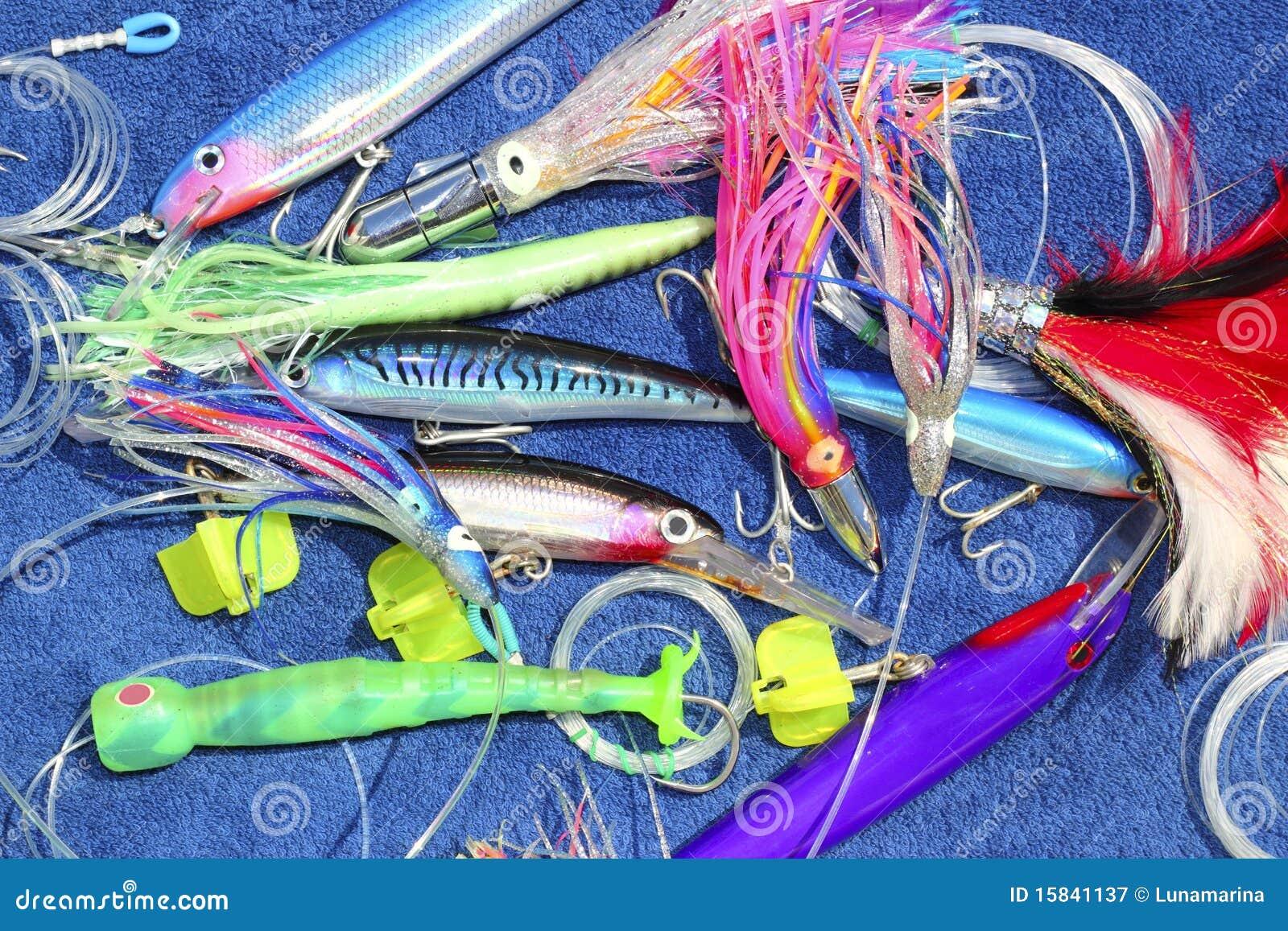 Big game fishing lures hook for tuna marlin stock image for Big fishing lures